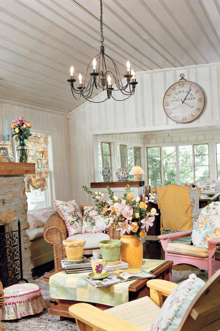 Cottage Style Home Decorating Ideas With Exemplary Decorate Living Room