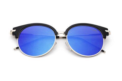 80c036a6d7d50 BAMM   Óculos de Sol Grande Espelhado Olho de Gato Vintage Redondo Fashion