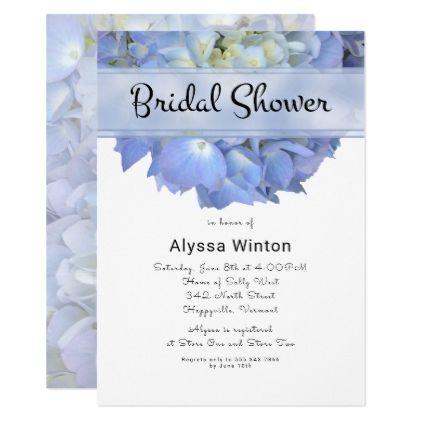 blue moon big hydrangea bridal shower invitation bridalshower invitations weddinginvitations wedding invitations party card cards invitation