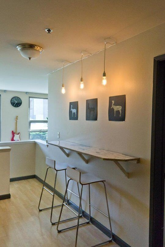 Cute Solution When You Don T Have Space For A Table Apartment The