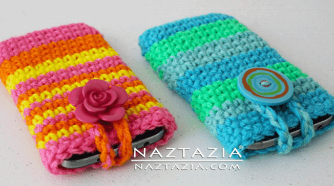Crocheted Cell Phone Cover [FREE Crochet Pattern