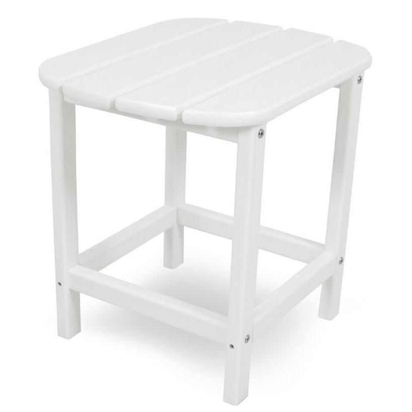 POLYWOOD South Beach Recycled Plastic Wood 19 x 15 Inch Patio Side