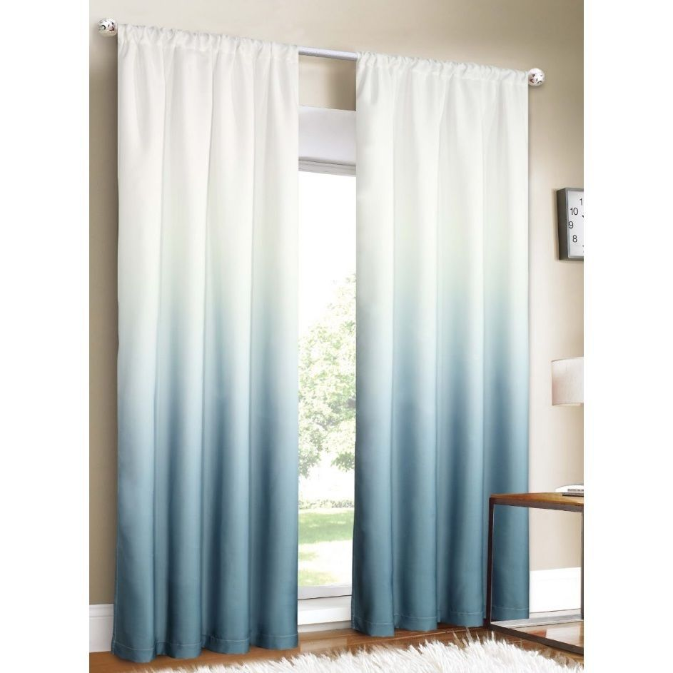 Silver Orchid Bard Shades Ombre Curtain Panel Pair 80 X 84 80