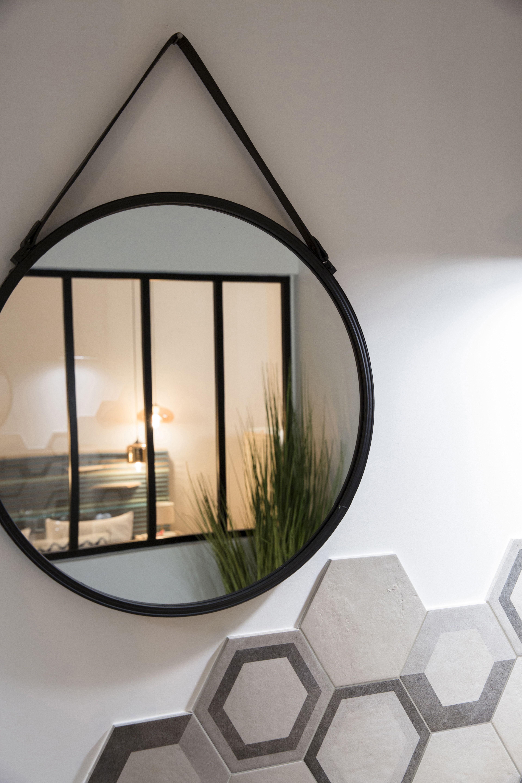 Specchio Kuze tondo grigio 40.5x40.5 cm | Specchi, Camera da ...