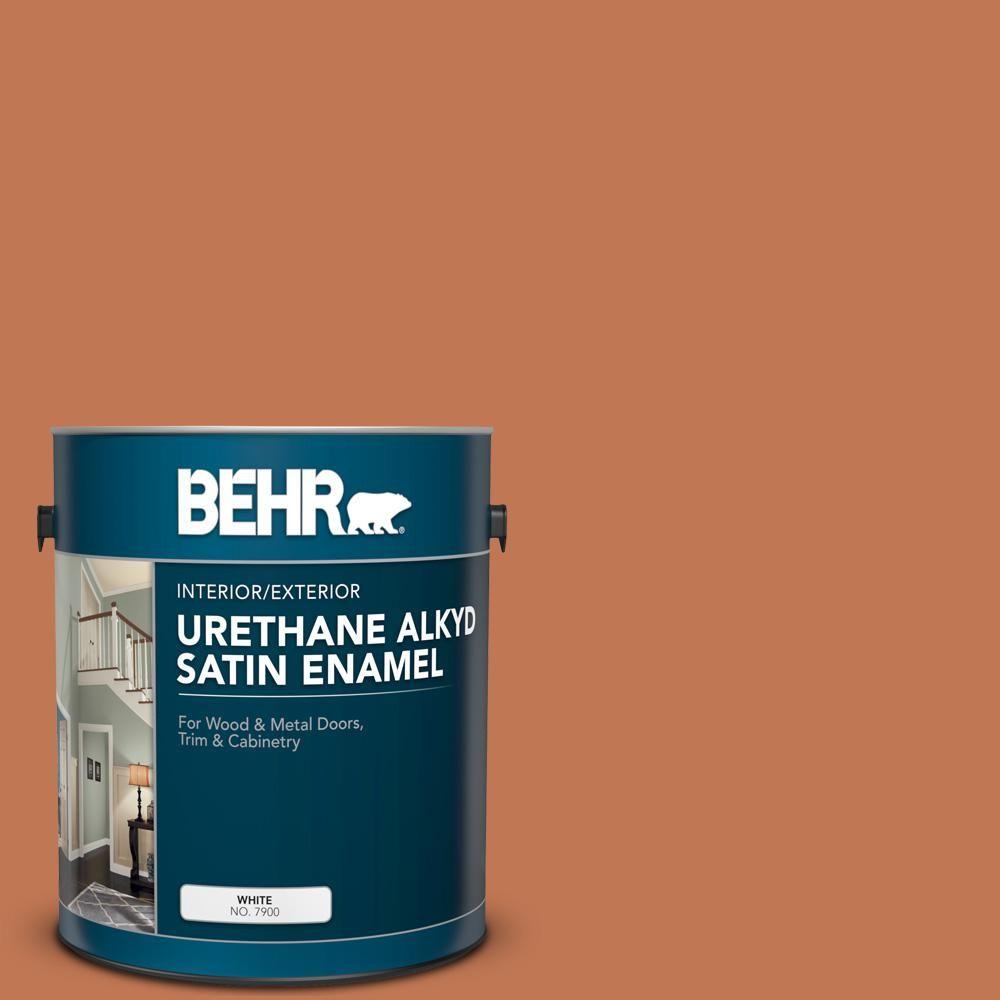 Behr 1 Gal Ppu3 01 Moroccan Sky Urethane Alkyd Satin Enamel Interior Exterior Paint 793001 Exterior Paint Interior Exterior Interior Paint