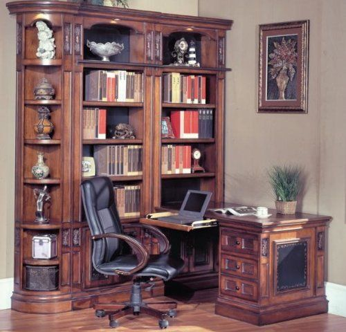 Parker House DaVinci Peninsula Desk 490 2 By 78057 Collection In Italian Renaissance Style Is The Most Popular Of All