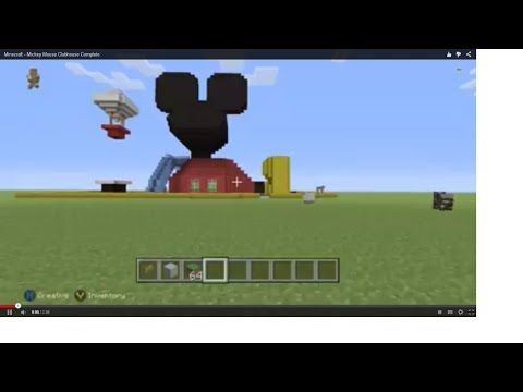 minecraft how to build mickey mouses clubhouse