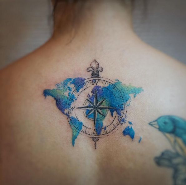 Image result for sea life tattoo watercolor tatuajes pinterest resultado de imagen para vintage world map tattoo gumiabroncs Images