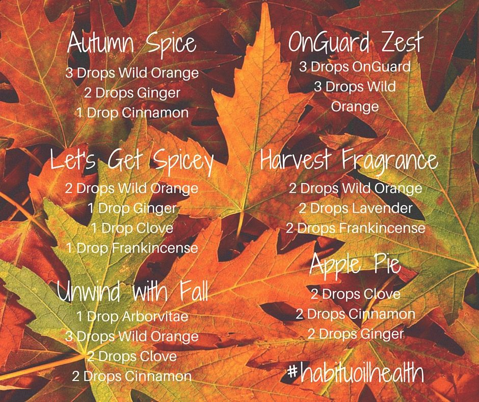 A Collection of Autumn Diffuser Blends