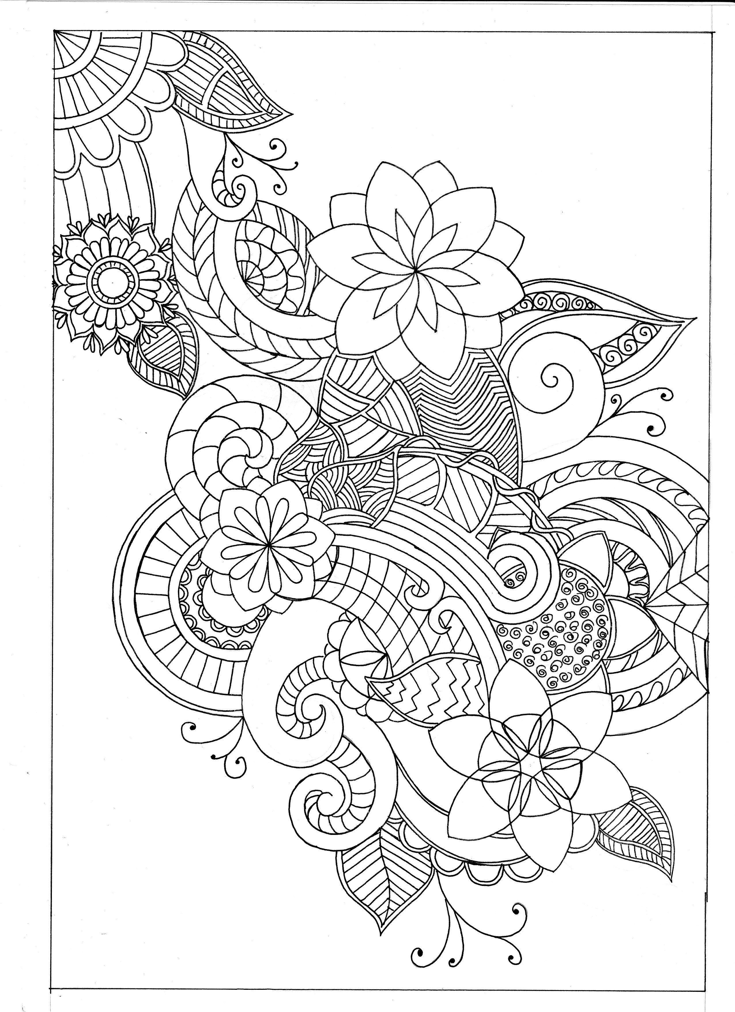fine line coloring pages - photo#1