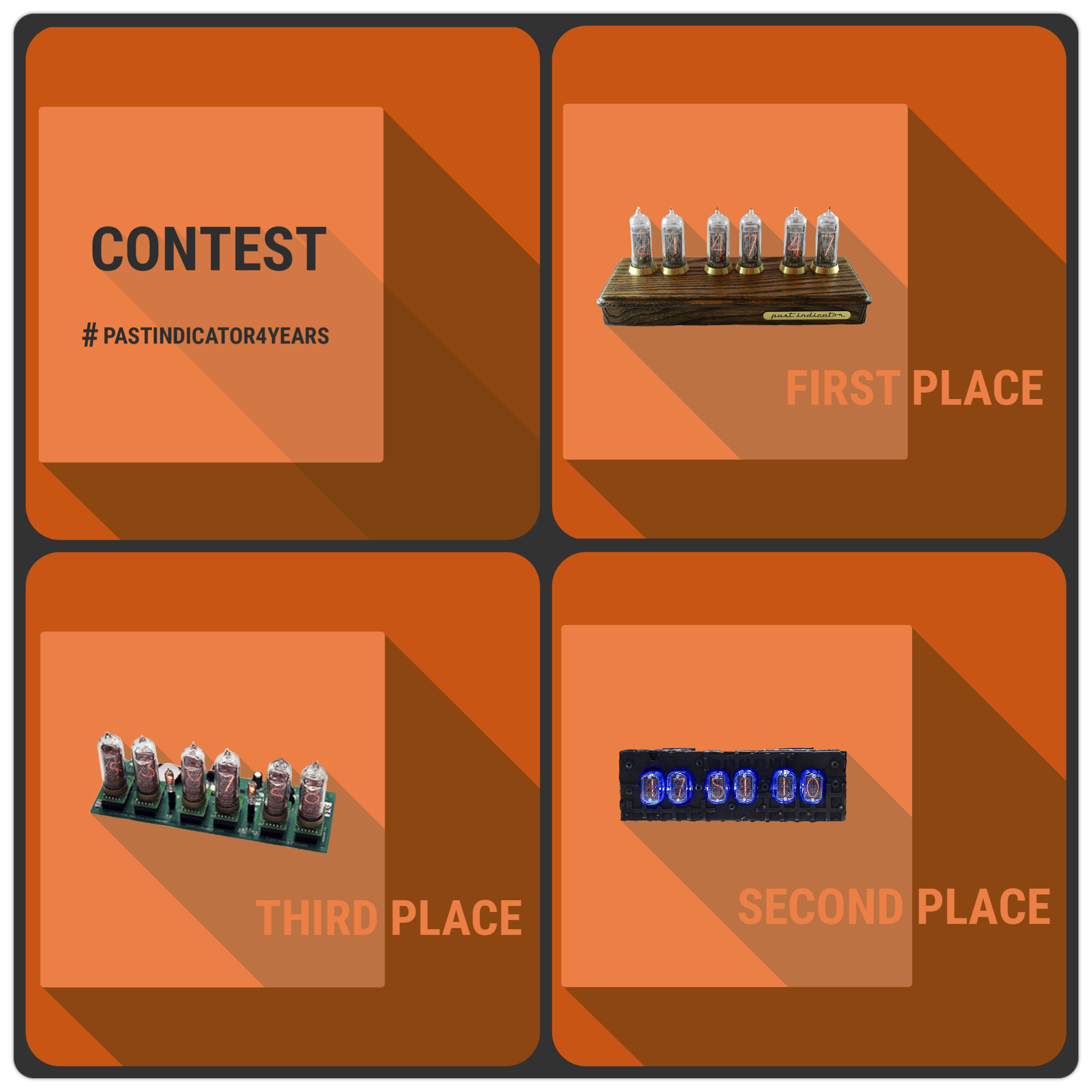This day has come! We giveaway Nixie Tube Clocks! To participate in our Photo Contest upload your photo using this entry form:  http://past-indicator.com/contest   #nixieclock