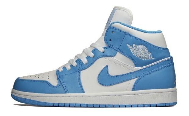Air Jordan 1 Mid White University Blue Nicekicks Com Air