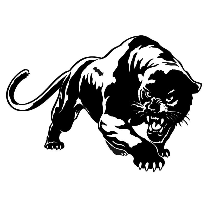 19 513 6cm fiery wild panther hunting car body decal car stickers motorcycle decorations black