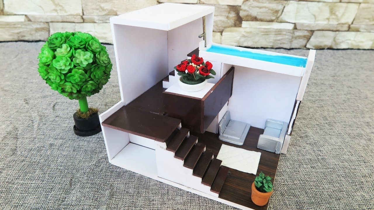 How To Make House Foam Board architectural models Dollhouse Miniature Crafts