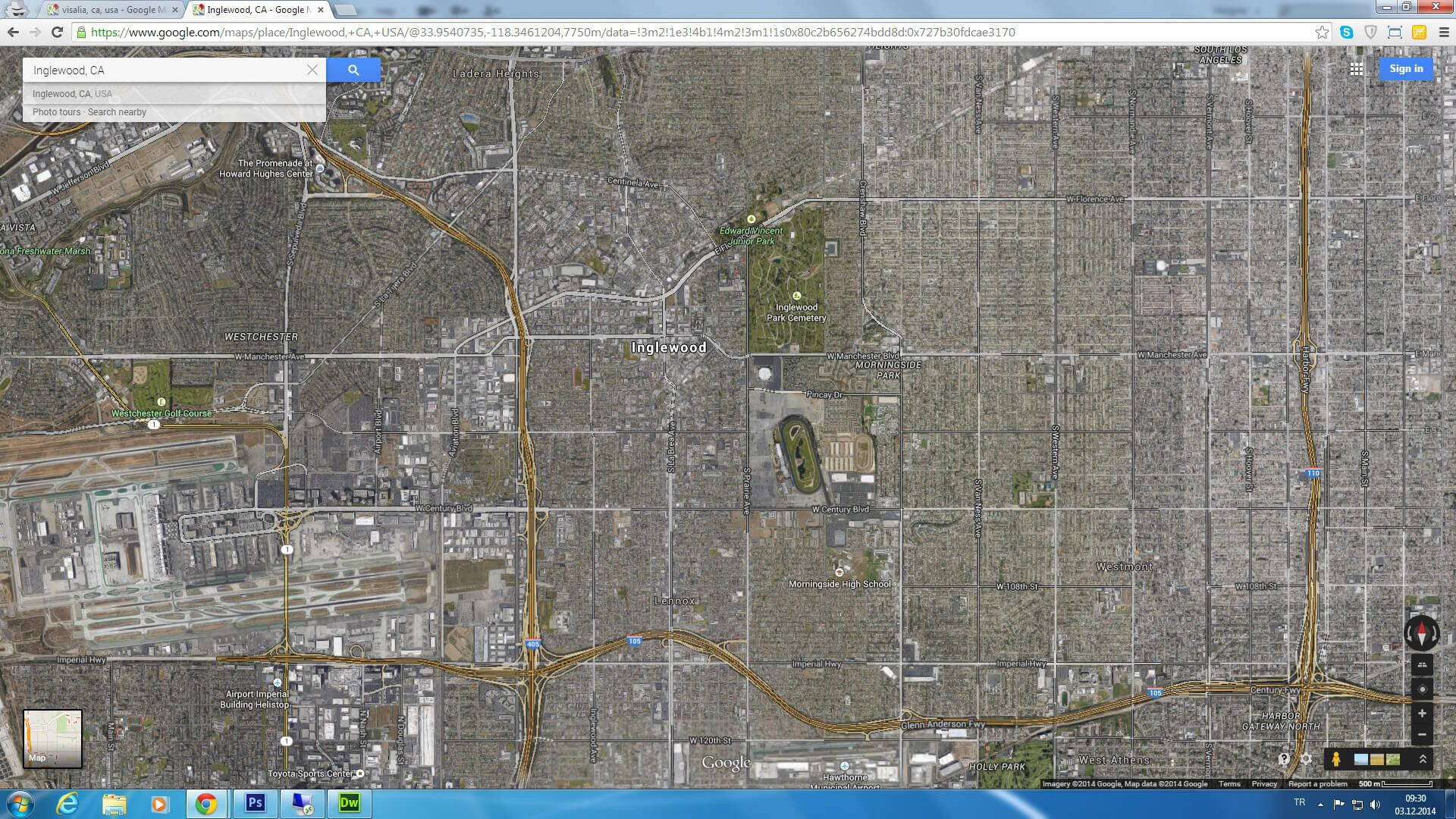 Google Maps Palm Springs California Detailed Inglewood Map ...