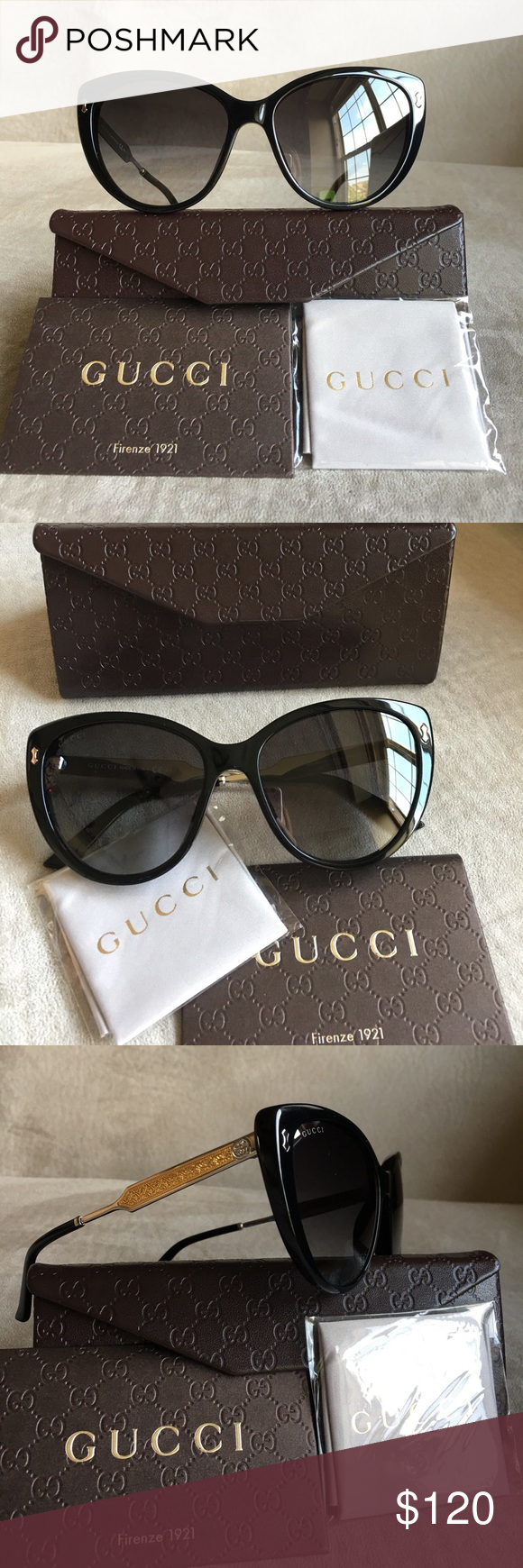 c6b390bf28c Authentic NEW Gucci GG3804 Women Sunglasses Almost new condition ...