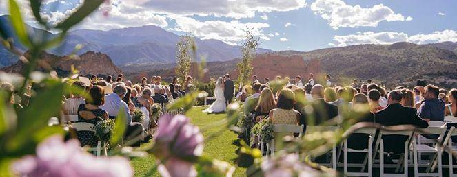 Colorado Springs Wedding Venues Garden Of The Gods Club