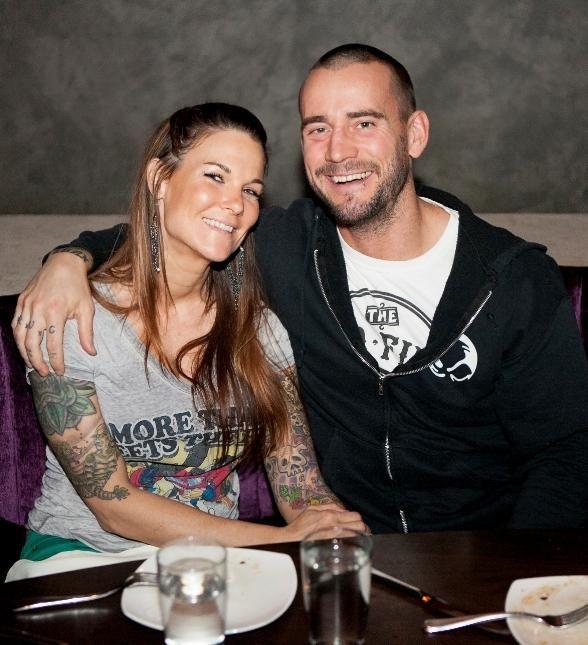 Wwe Superstar Cm Punk With Girlfriend Lita At Heraea Inside Palms
