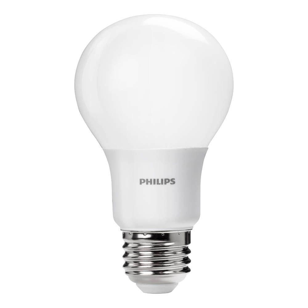 Philips 40w Equivalent Daylight Non Dimmable A19 Led Light Bulb 4 Pack 461160 The Home Depot Led Light Bulb Light Bulb Dimmable Led Lights