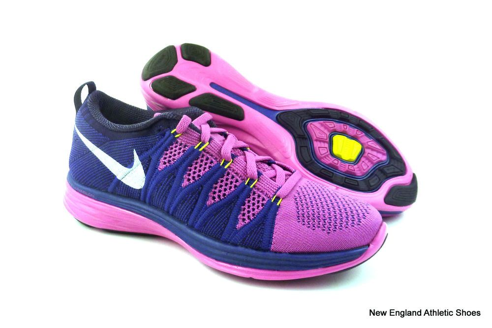best website 58f32 66375 wholesale nike womens flyknit lunar 2 running shoes size 9.5 pink white  purple ff50a b438d