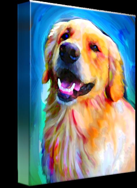Golden Retriever By David Corrente Golden Retriever Painting Golden Retriever Art Dogs Golden Retriever