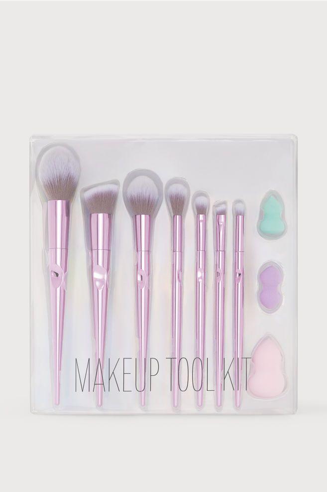 Makeup Tool Kit Purple H M Us Makeup Tools Makeup Brush Organization Makeup Brushes