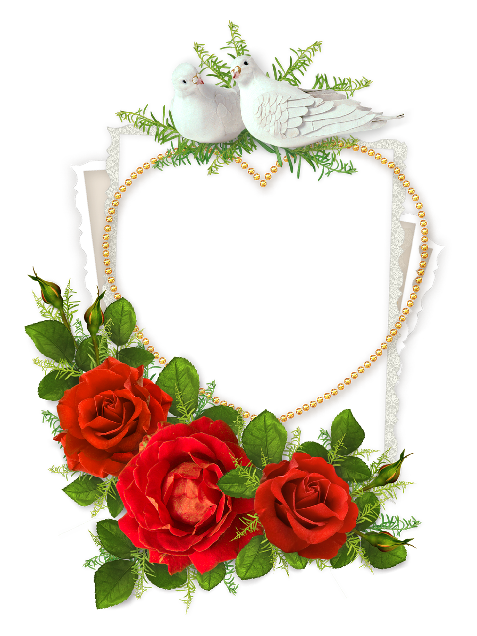 heart floral frame valentine - photo #28