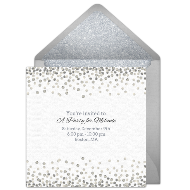free silver sparkle invitations in 2018 sirls invitations