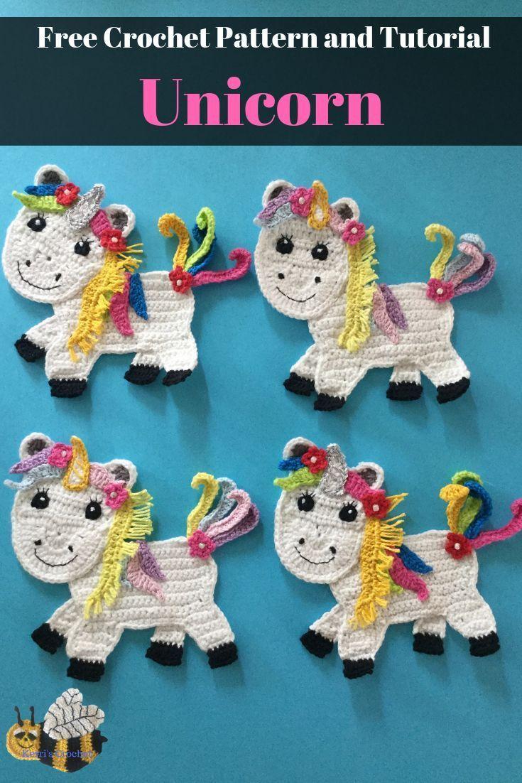 Crochet Unicorn Pattern • Kerri's Crochet