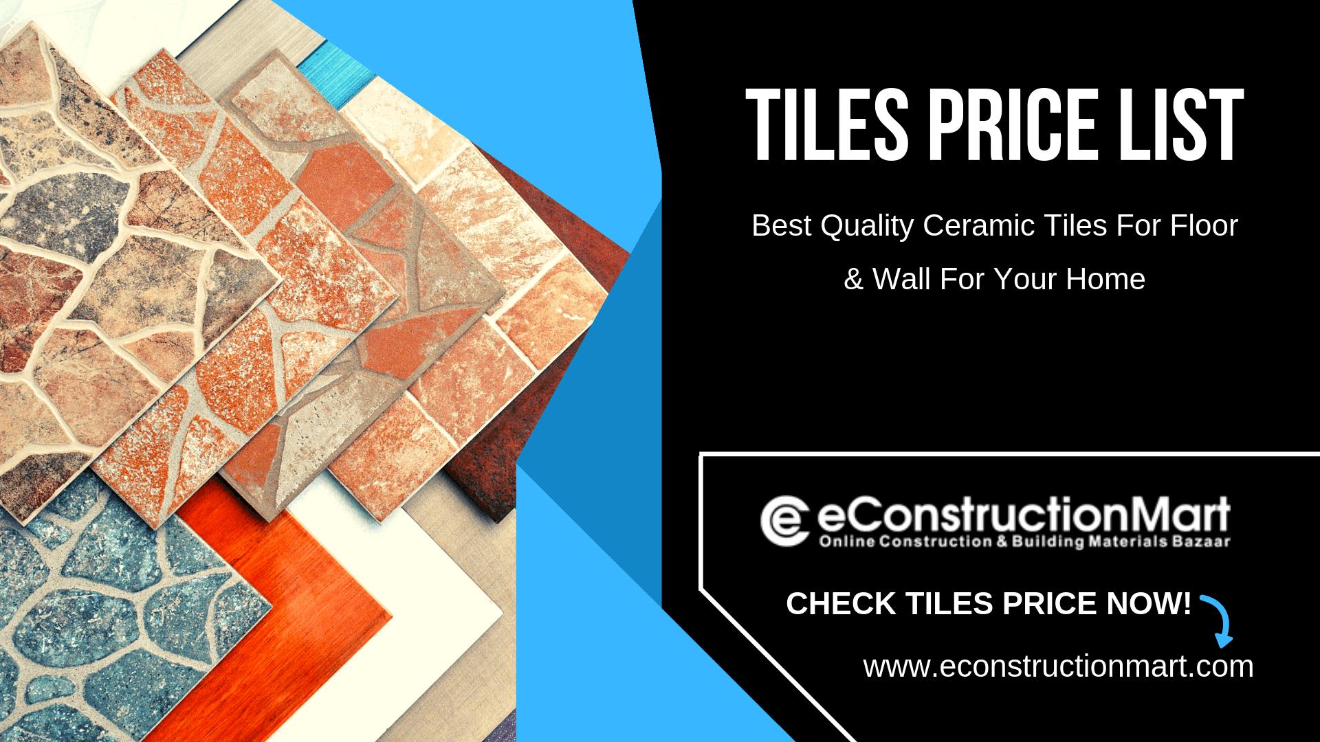 Tiles Price List in India Tiles price, Vitrified tiles