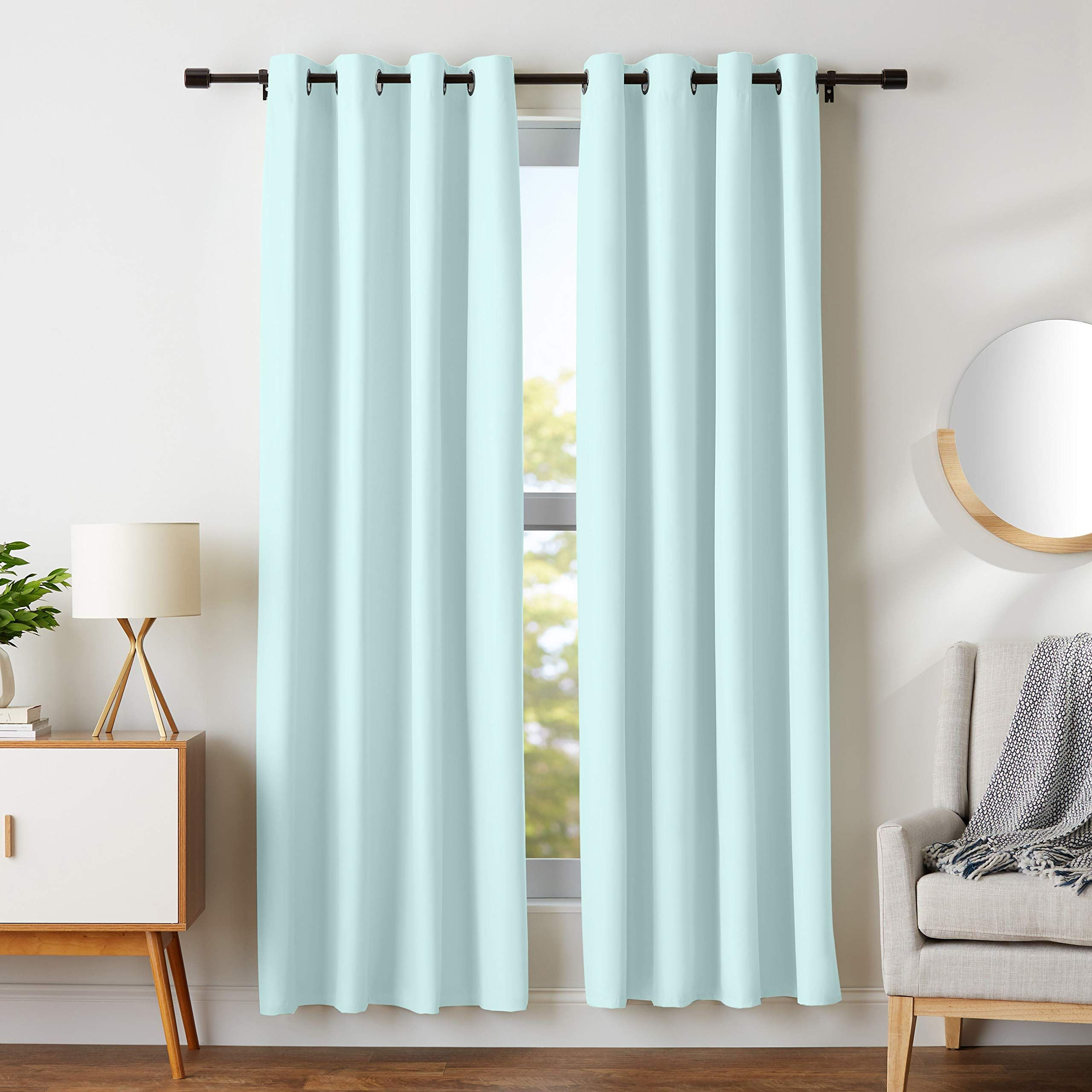 Amazonbasics Room Darkening Blackout Window Curtains With Grommets