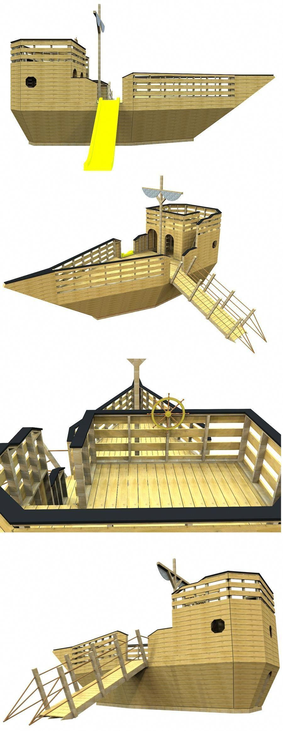 The pirate ship playhouse plan, hosted on paulsplayhouses ...