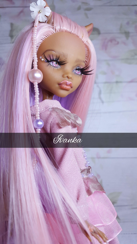 RESERVE ooak Monster High Doll OOAK Art Doll hinge gift collection interior Doll OoakMonsterhigh bjd Repaint OoakDoll Ivanadoll Ivanka
