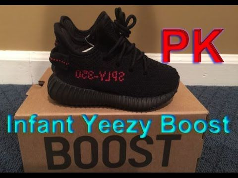 YEEZY BOOST 350 V2 INFANT BB6372 BRED KANYE WEST BLACK RED review from p. 5f2c7d4fb