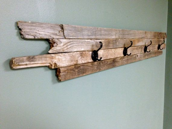 Reclaimed Barn Wood Coat Hanger Towel By Secondhandnightstand 50 00 Wood Coat Hanger Coat Hanger Barn Wood