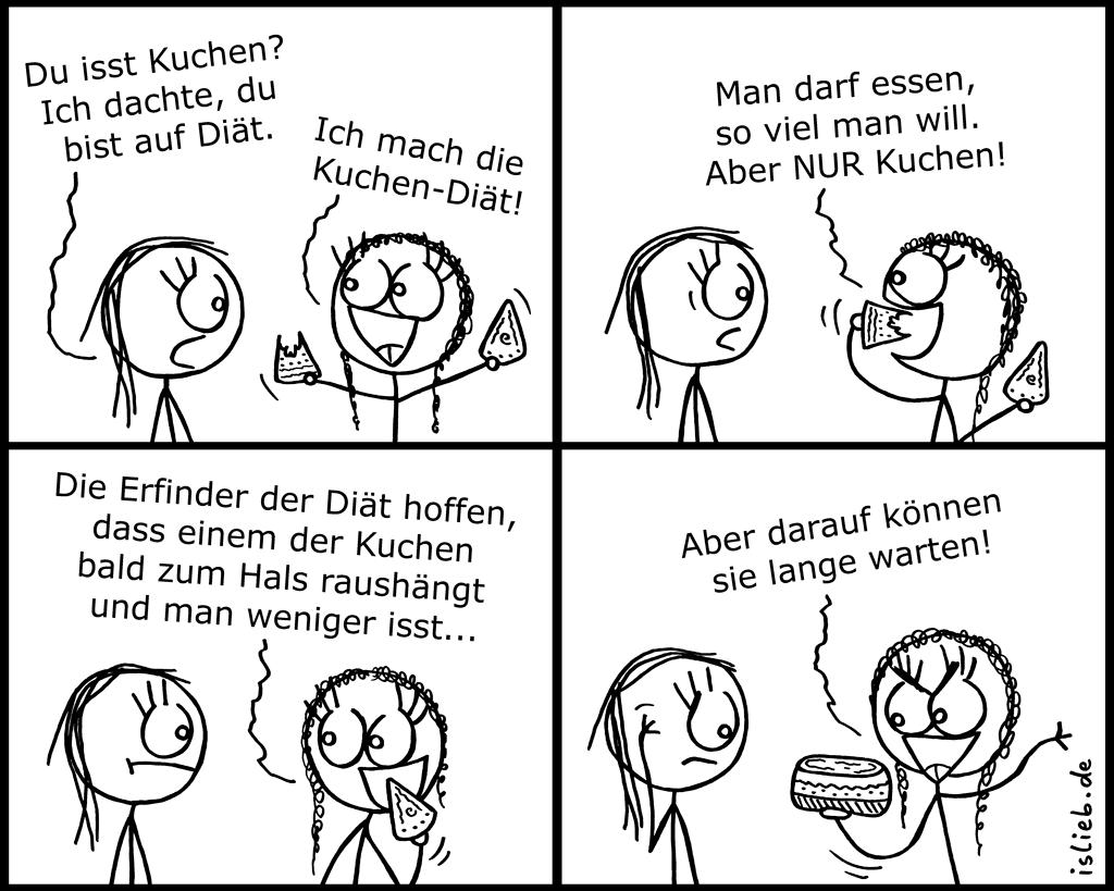Beste Diät | Kuchen-Comic | is lieb? | Spaß | Pinterest | Humor
