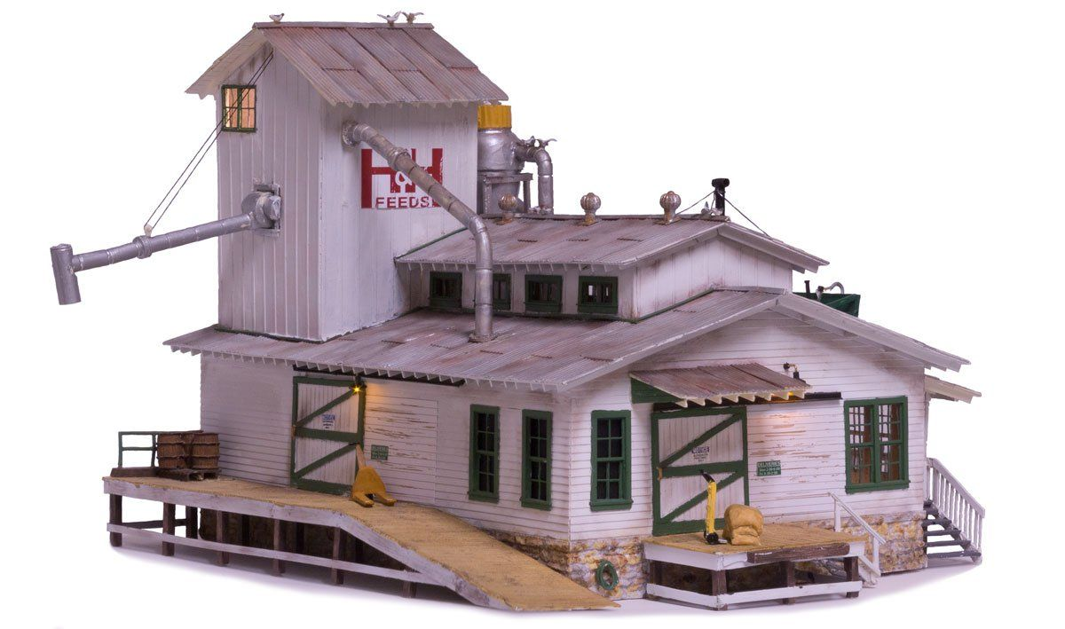 H&H Feed Mill - HO Scale - Coming Soon - Woodland Scenics ...
