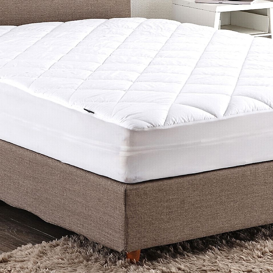 Puredown 100 Cotton Top Mattress Pad In White Bed Bath Beyond Mattress Top Mattress Mattress Pad All cotton mattress pad no polyester