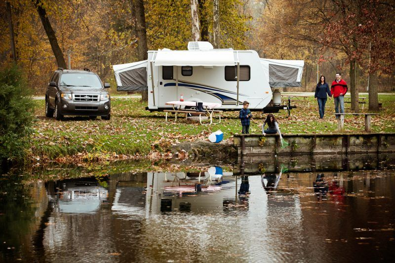 Camping with Kids Considerations for Fall Recreational