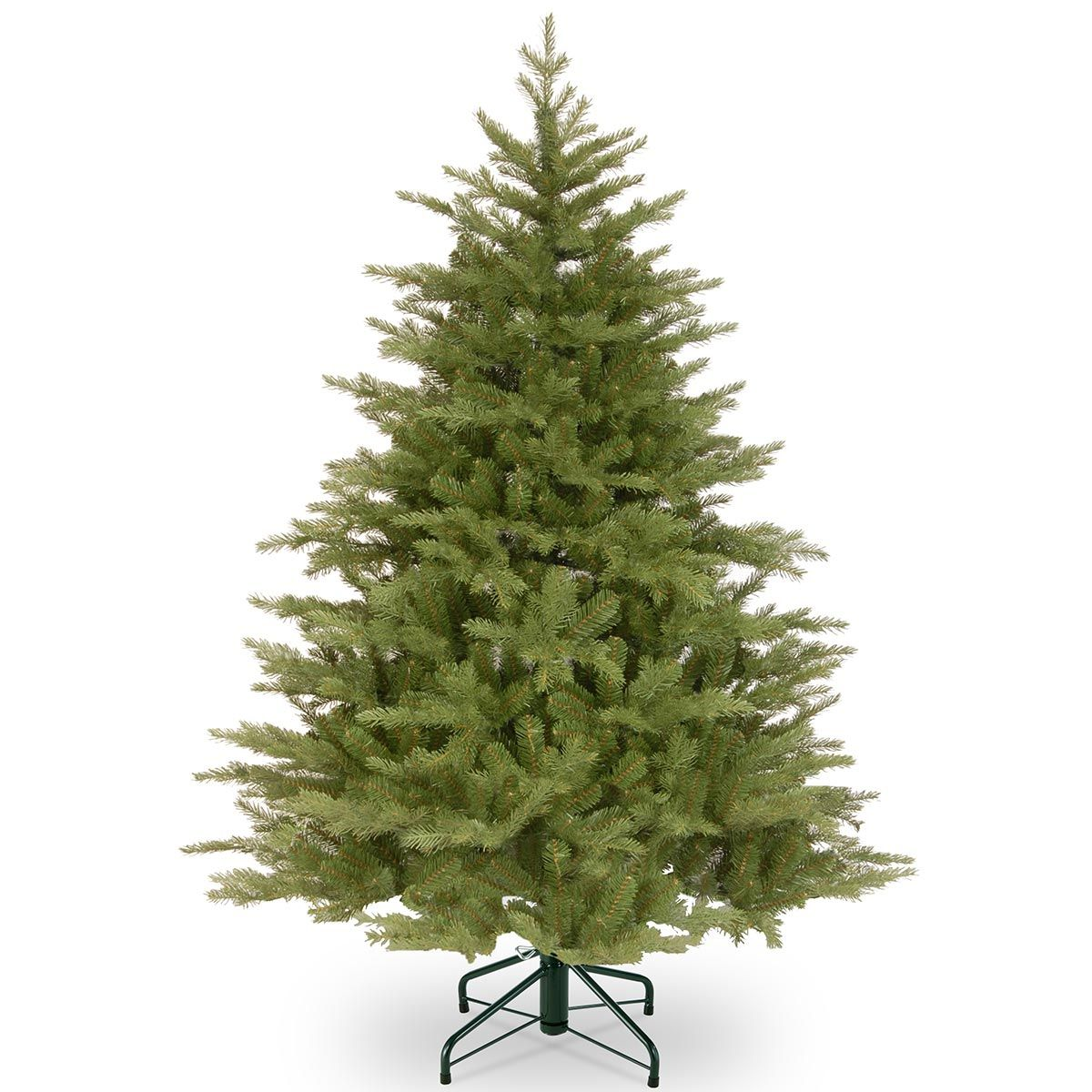 6.5ft Pre-lit Frosted Hampton Spruce Feel-Real Artificial ...