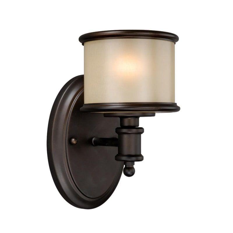"""Photo of Bellevue VXBF3726 Xavier 8 """"High Bathroom Light Noble Bronze Indoor Lighting Ba …"""
