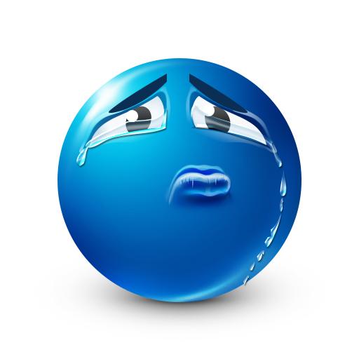 Crying Blue Smiley Emojis Blue Ones Pinterest Smiley Emoticon