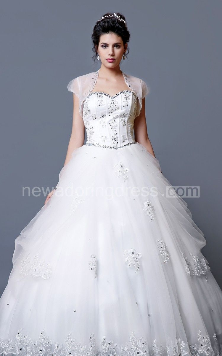 Sweetheart short dress with beading and ruffles gathered skirt