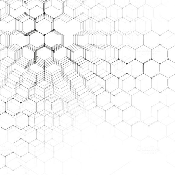 Chemistry 3D pattern, vector design by VectorShop on