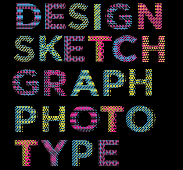 Stitching Font Rgb Stich Alphabet Is A Typographic Experiment A Set Of 26 Sans Serif Uppercase Letter Free Fonts For Designers Graphic Design Fonts Free Font
