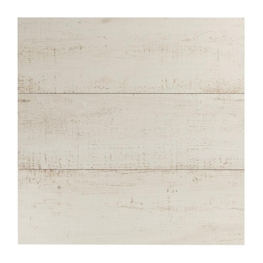windsor white wood plank porcelain tile - 12in. x 36in