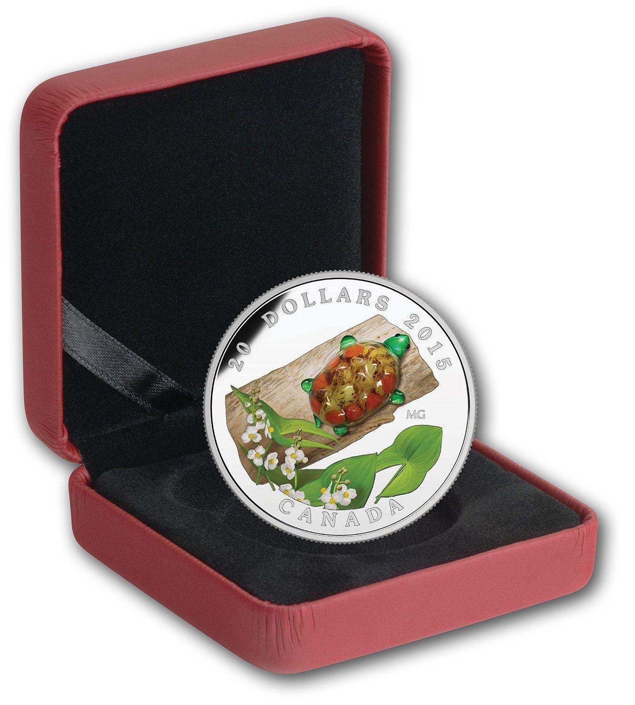 Canada 2015 $20 Pure Silver Turtle