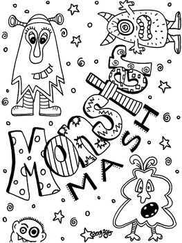 Monster Mash Coloring Page Monster Coloring Pages Cool Coloring Pages Halloween Coloring