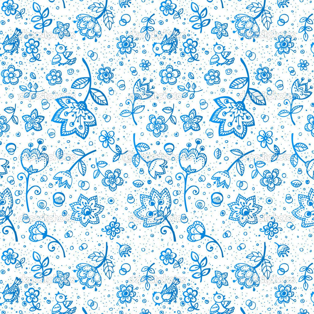 depositphotos Hand drawing flower pattern 1024×1024