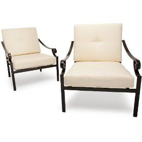 strathwood falkner lounge deep seat arm chair set of 2 329 99